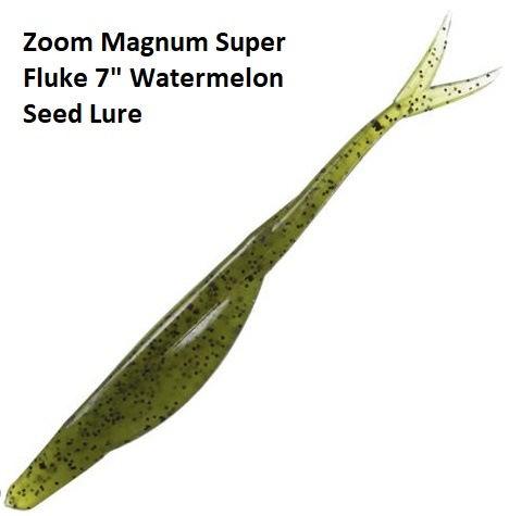 Zoom Magnum Super Fluke 7 Inch Watermelon Seed Lure