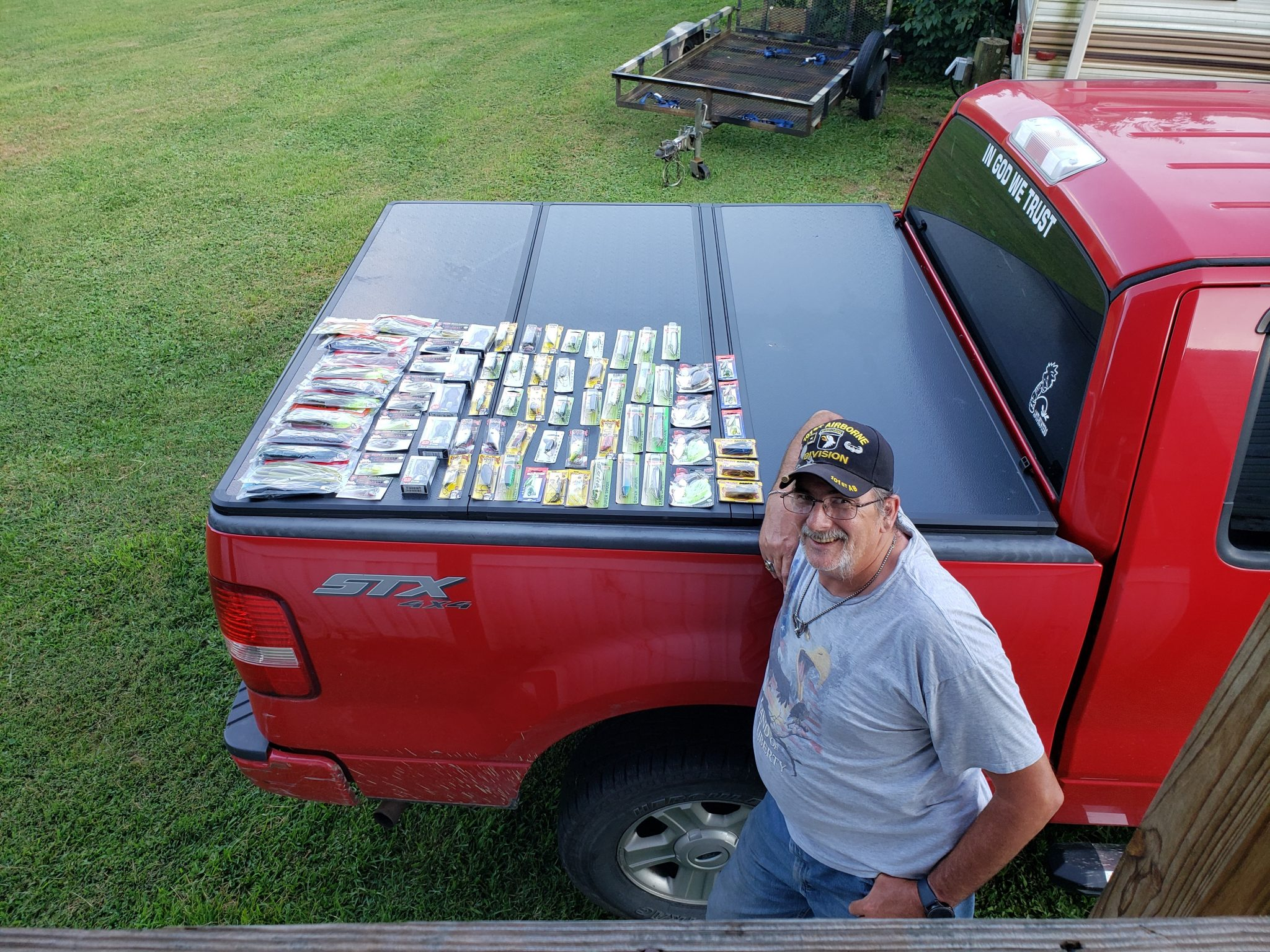 bass fishing tournament lures giveaway winner at rusty angler