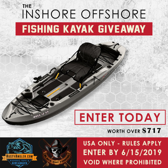 Inshore Offshore Fishing Kayak Giveaway from Rusty Angler