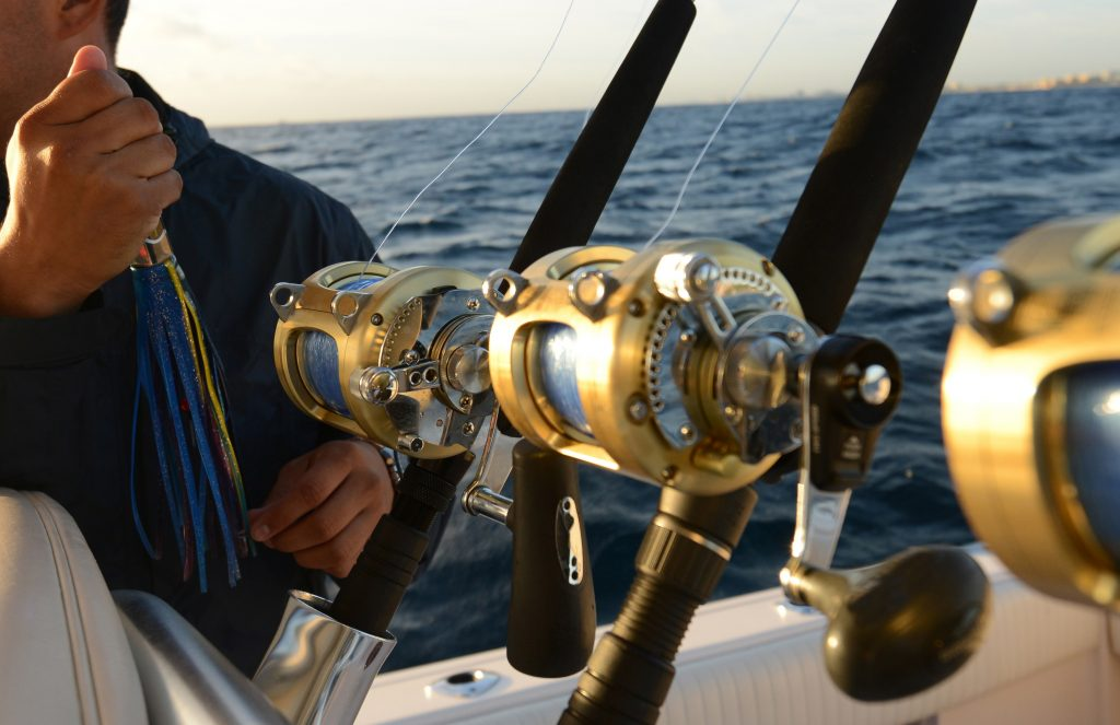 deep sea fishing reel rod