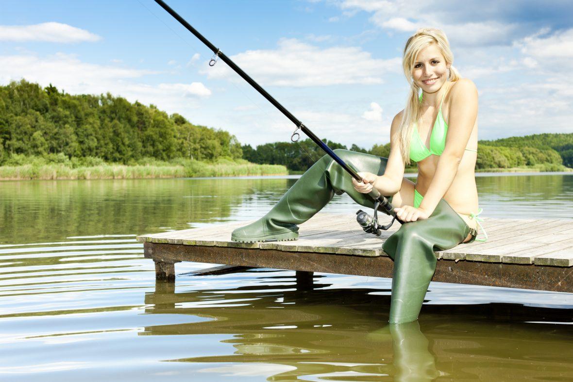 fishing angler girl