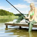 fishing angler girl