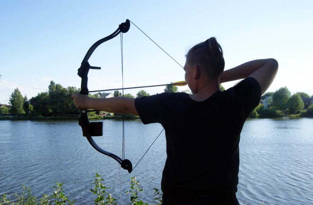 fishing bow and arrow