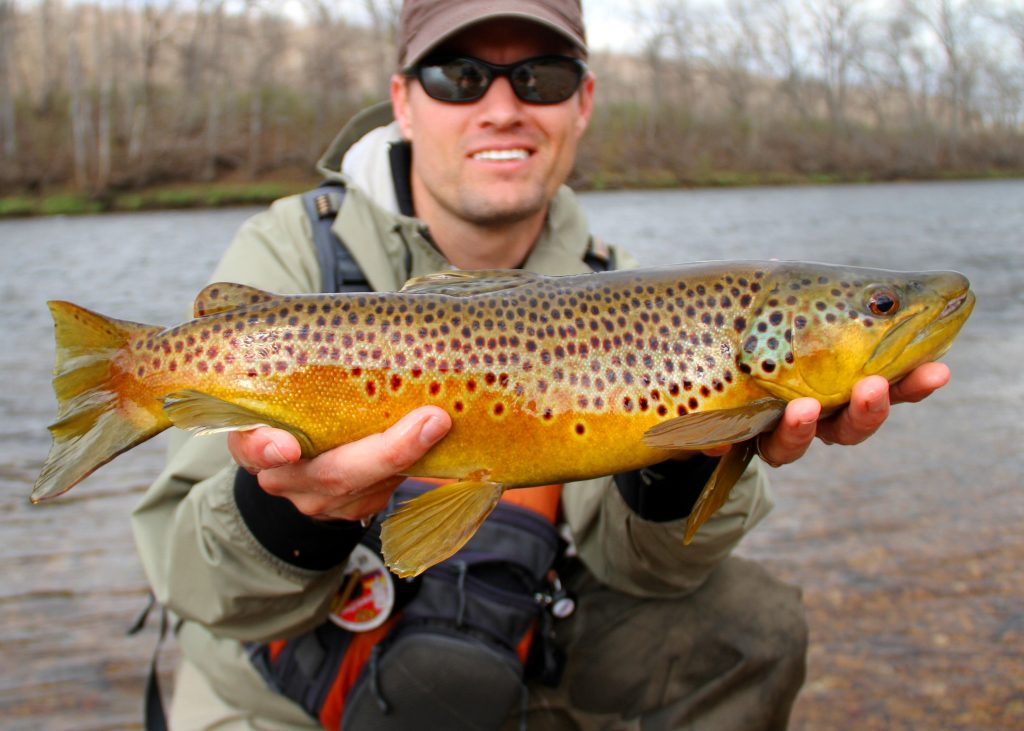 fishing for trout - trout bait - fly fisherman