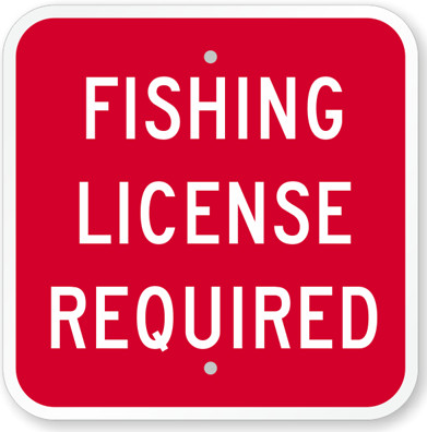 fishing license required