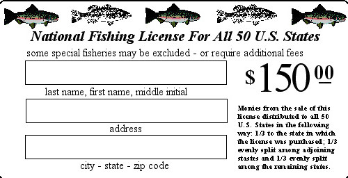 national fishing license in 50 us states