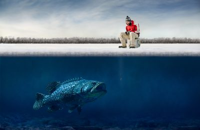 winter fishing gear - ice fishing