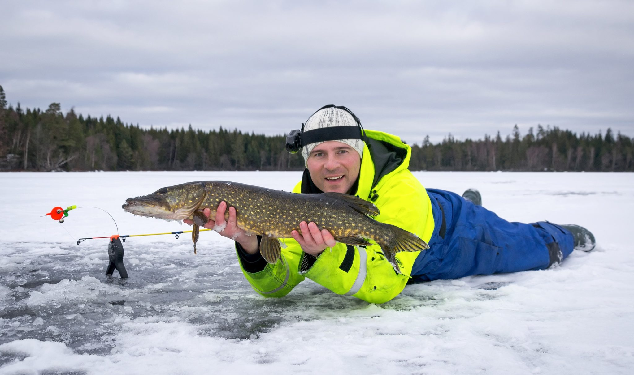 winter fishing tips - pike fish